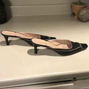 Cole Haan Black Kitten Heel Slides